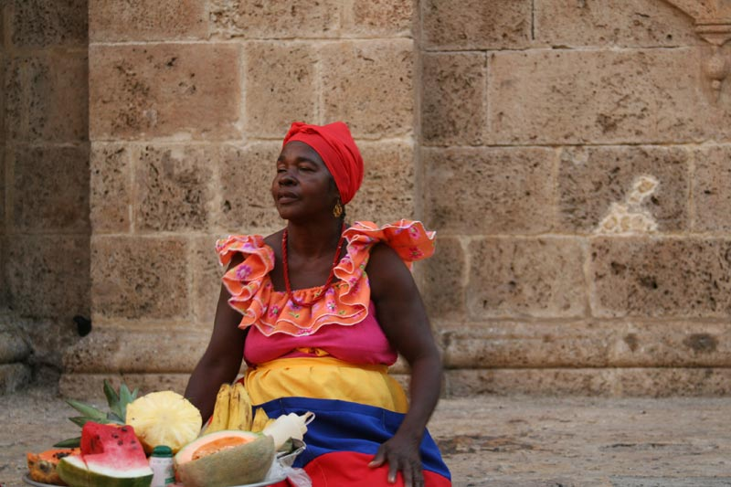 Colombia Woman With Fruit
