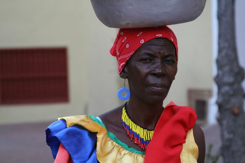 Colombia Woman With a Pot on Her Head