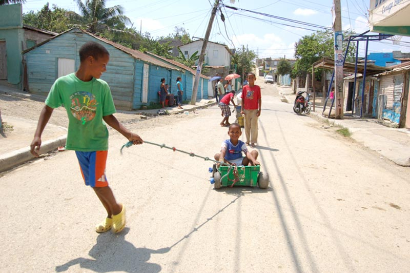 Dominican Republic Boys Playing in Street