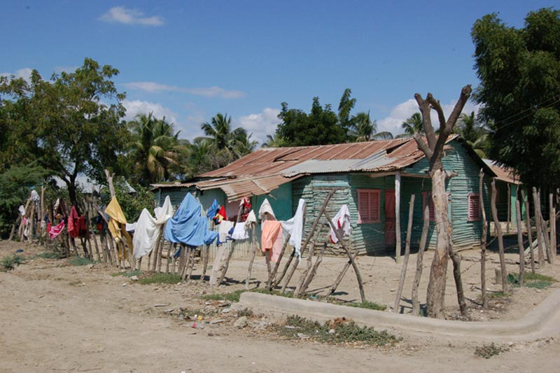 Dominican Republic Clothes Hanging on a Fence