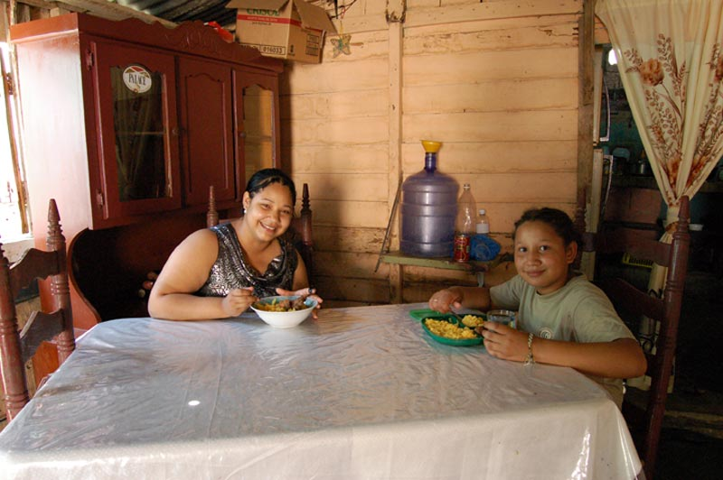 Dominican Republic Mother and Daughter in Home