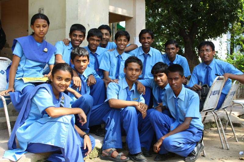 East India group of students
