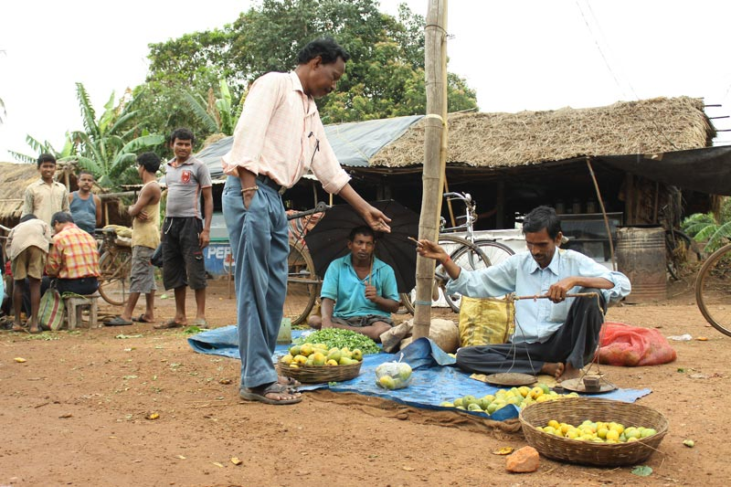 East India man selling produce