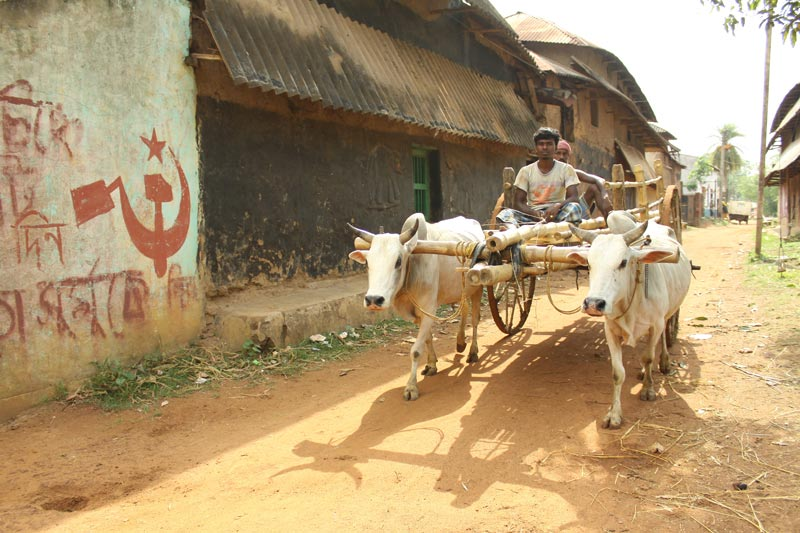 East India Men On an Ox Cart