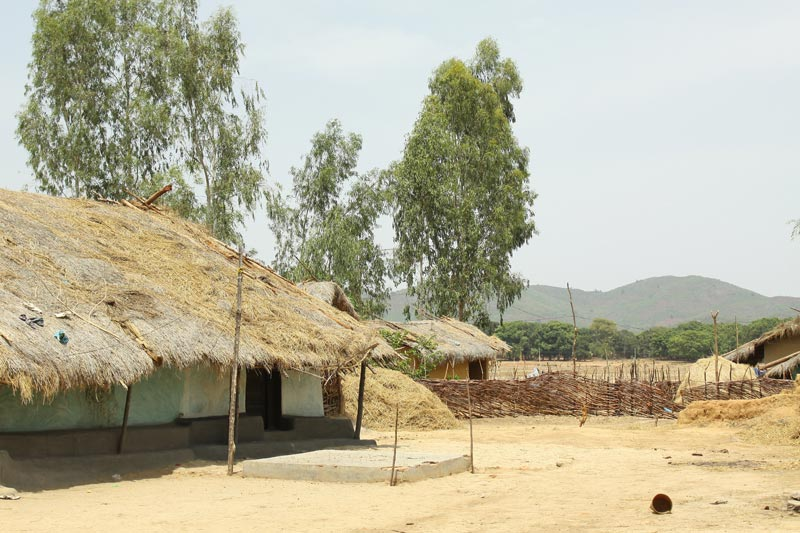East India thatch roof homes