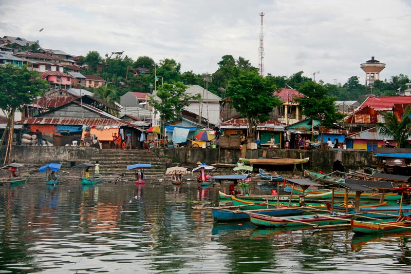 East Indonesia boats on water
