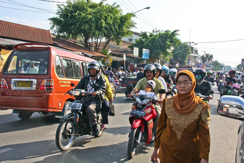 East Indonesia busy street
