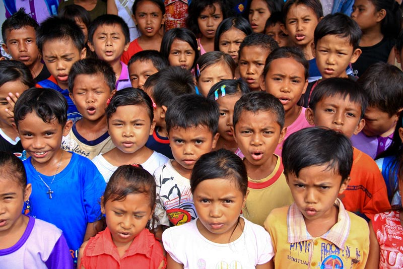 East Indonesia group of children