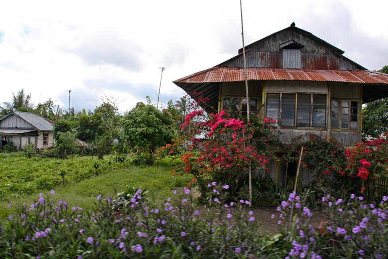 East Indonesia home with flowers