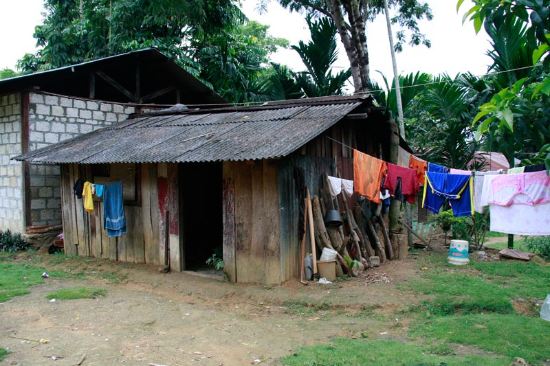 East Indonesia home with hanging clothes