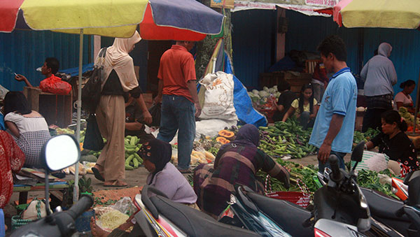 East Indonesia produce market