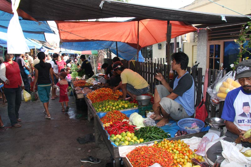 East Indonesia produce stand