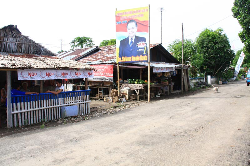East Indonesia road and shops