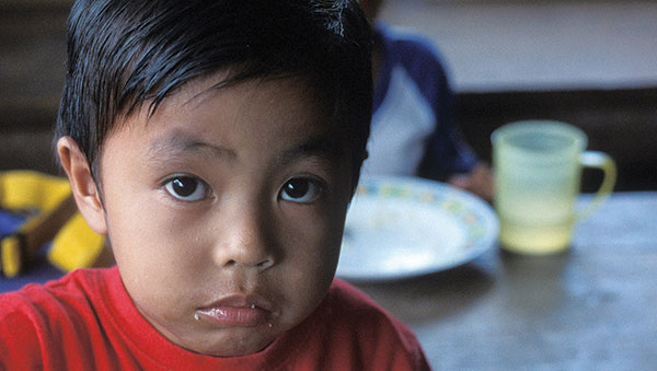 East Indonesia young boy closeup