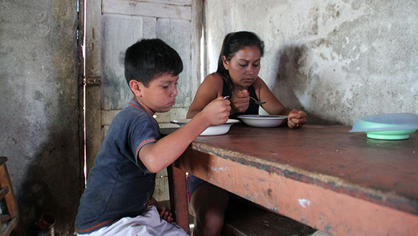 Ecuador Boy and His Mother