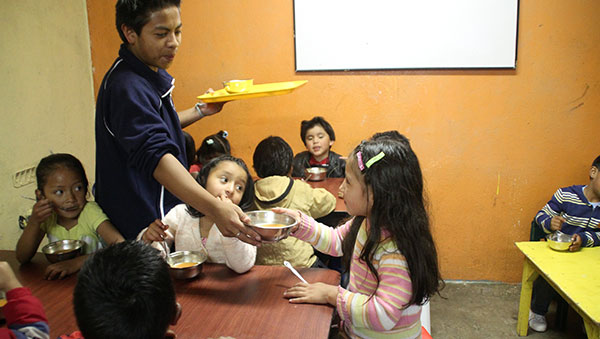Ecuador Children Getting Nutritious Meal