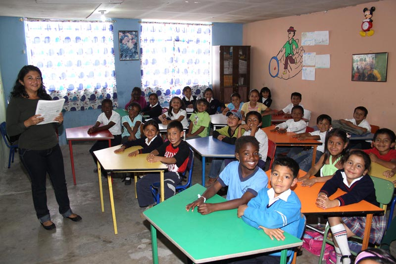 Ecuador Children in Classroom