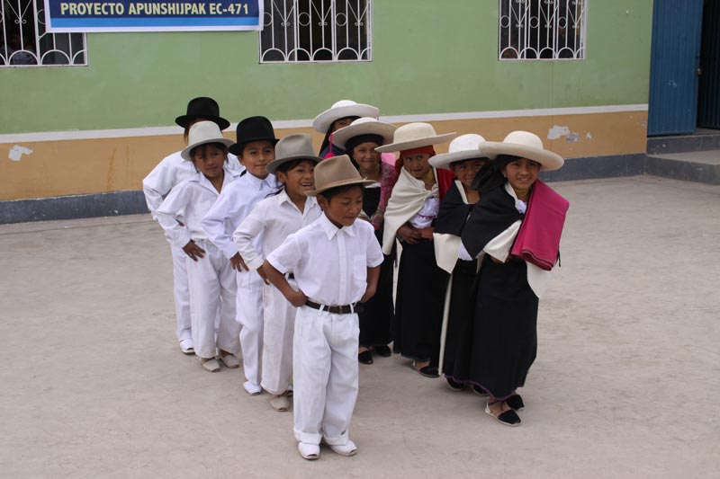 Ecuador Children in Traditional Dress
