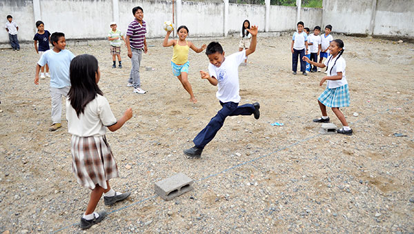 Ecuador Children Playing Soccer