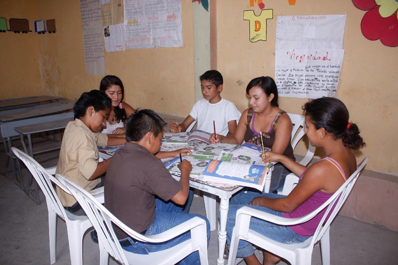 Ecuador Children Studying at a Table