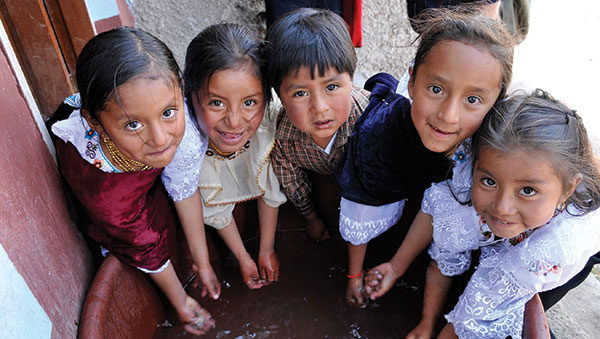 Ecuador Children Washing Hands