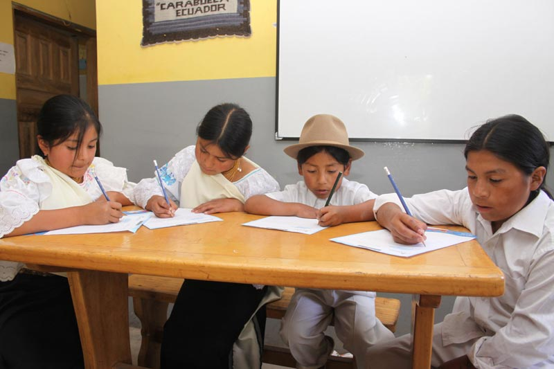 Ecuador Children Writing to Their Sponsors