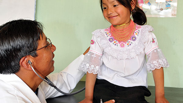 Ecuador Girl Getting a Medical Checkup