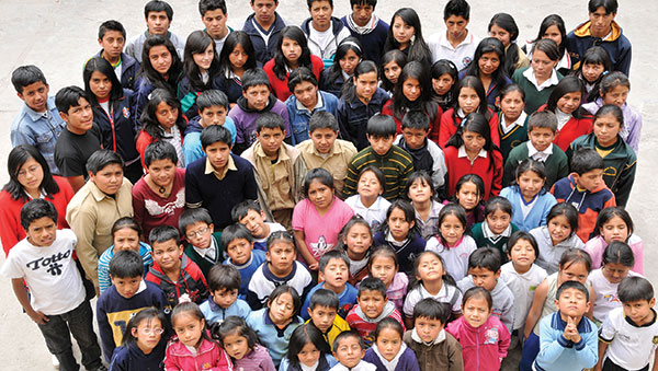 Ecuador Large Group of Children