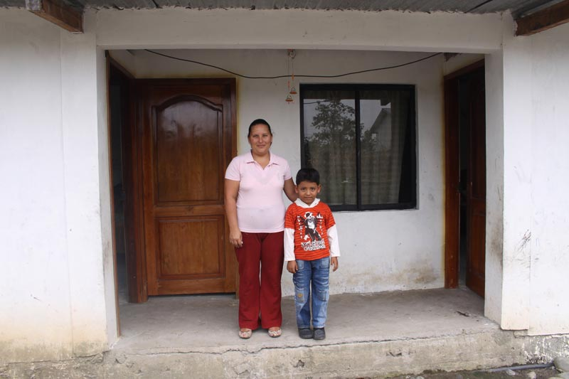 Ecuador Mother and Son on Porch