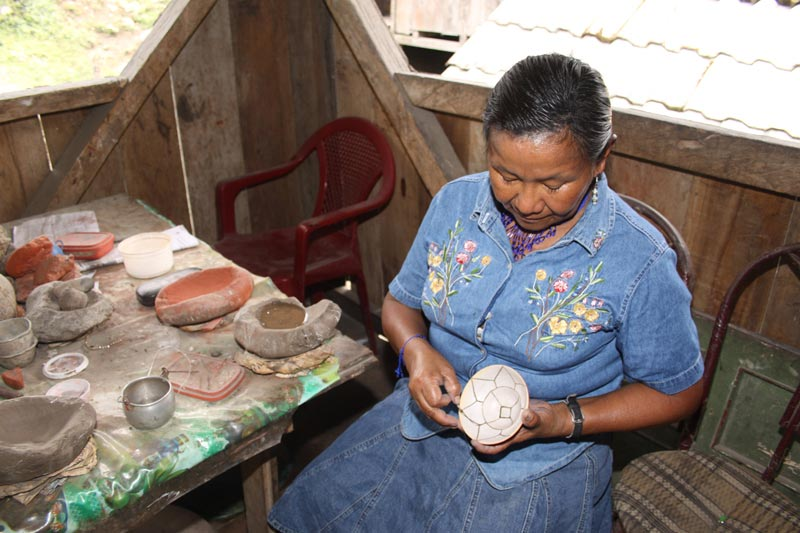 Ecuador Woman Making Pottery