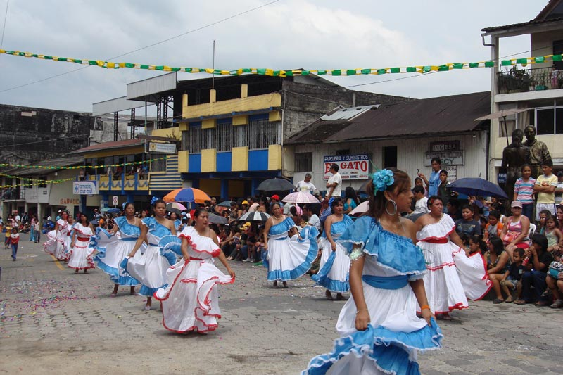 Ecuador Women Dancing in Parade