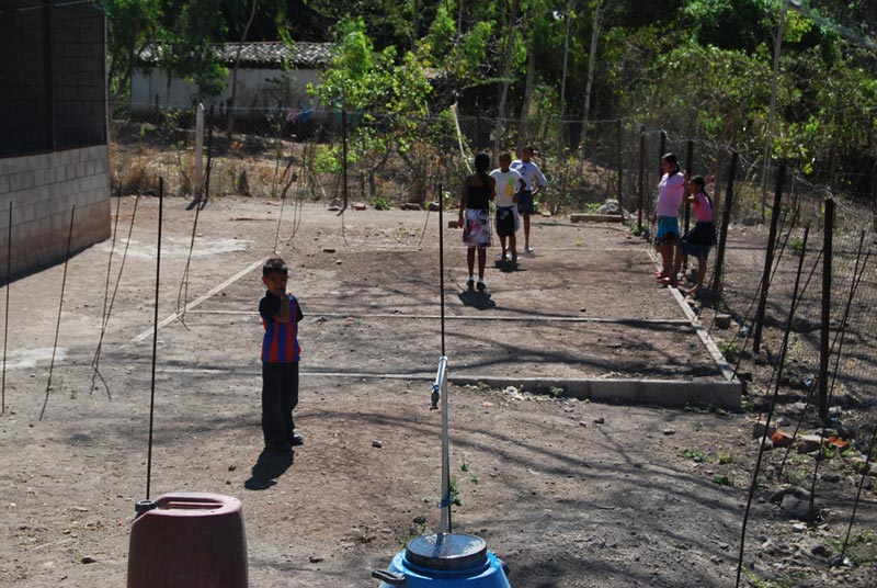El Salvador Children Playing Outside