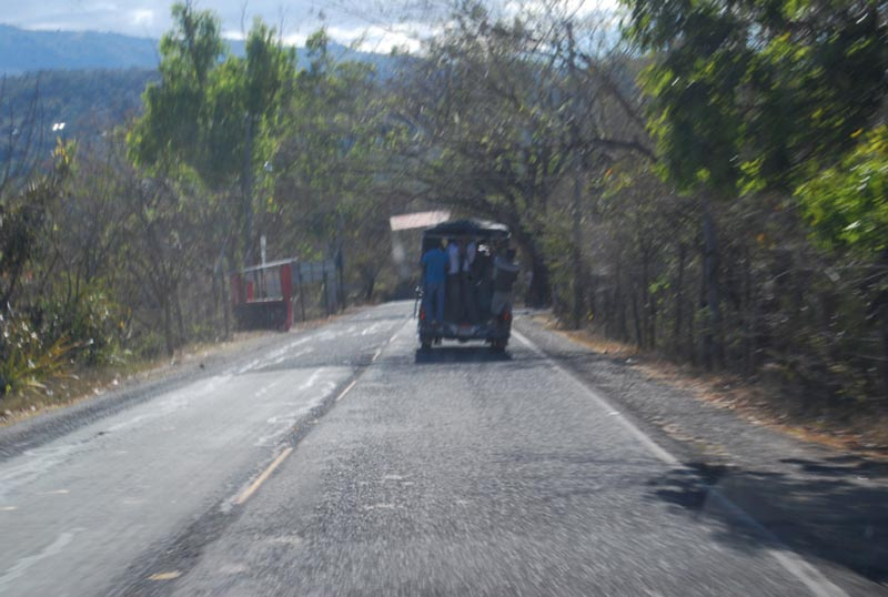 El Salvador Paved Road with Vehicle
