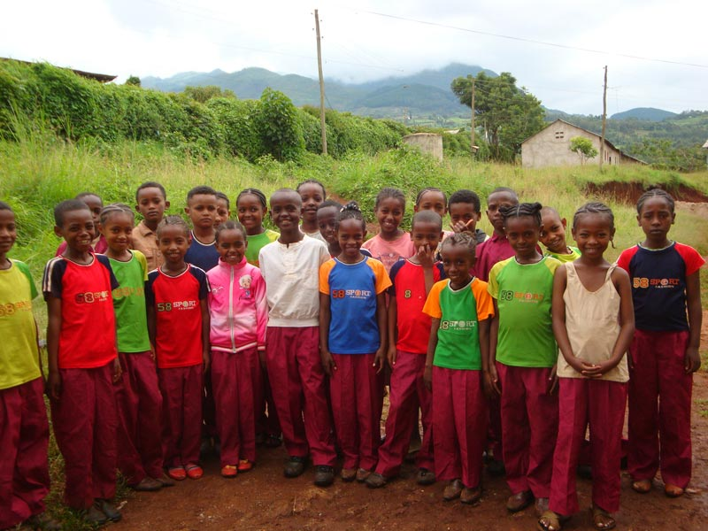 Ethiopia Children in Bright Clothes