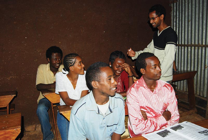 Ethiopia Men and Women in a Class
