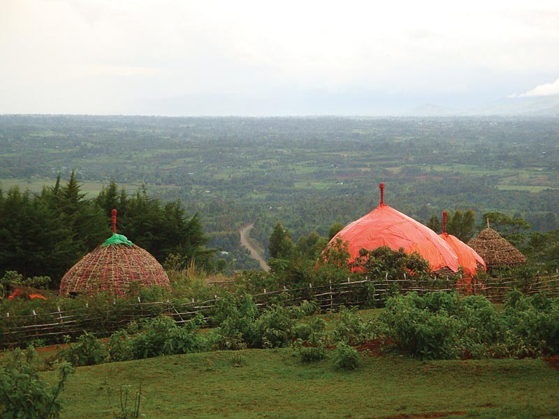 Ethiopia Round Huts on a Hillside