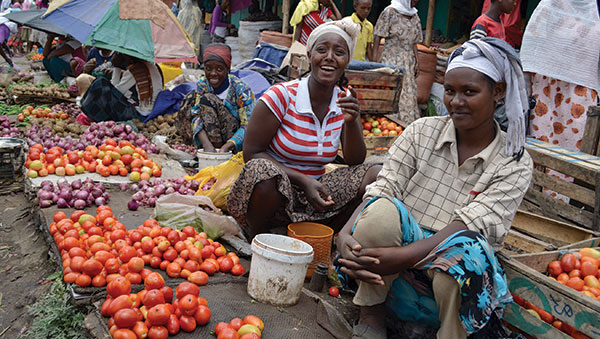Ethiopia Women Selling Produce