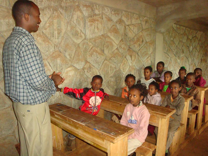 Ethiopia Young Children in Class