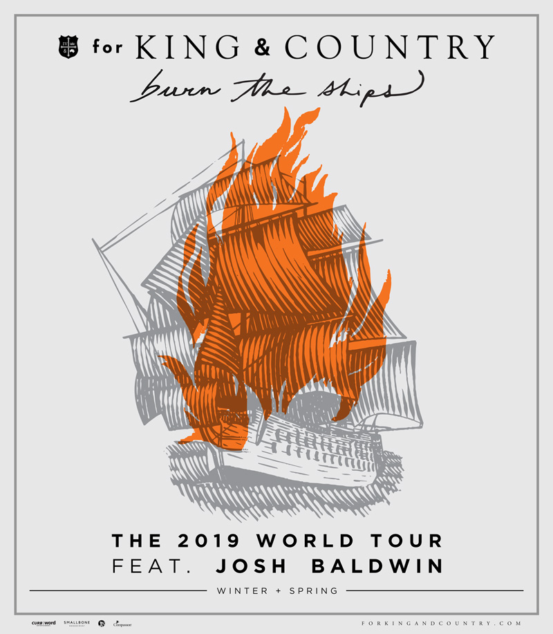 for KING & COUNTRY Tour 2019 poster