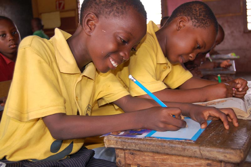 Ghana Happy Boys are Writing Sponsor Letters