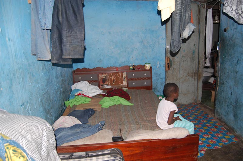 Ghana Child in a Bedroom
