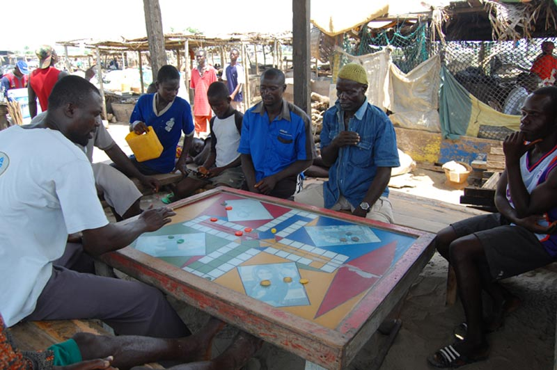 Ghana Men Playing a Game