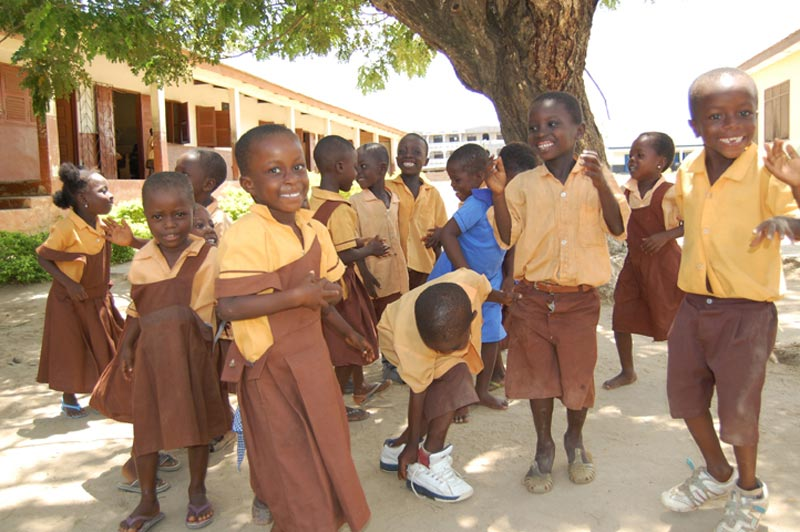 Ghana Smiling Children in Uniform
