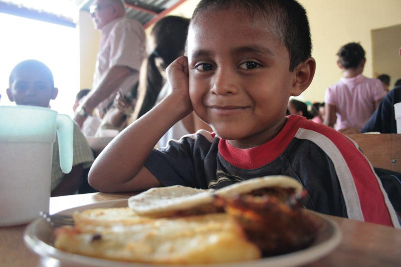 Guatemala Boy with Plate of Food