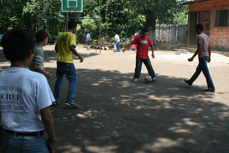 Guatemala Boys Playing Soccer