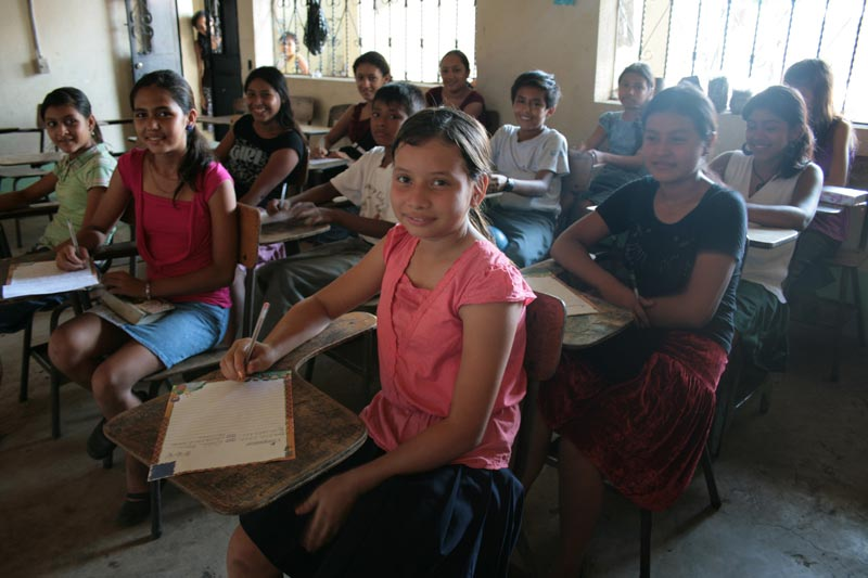 Guatemala Children at Desks