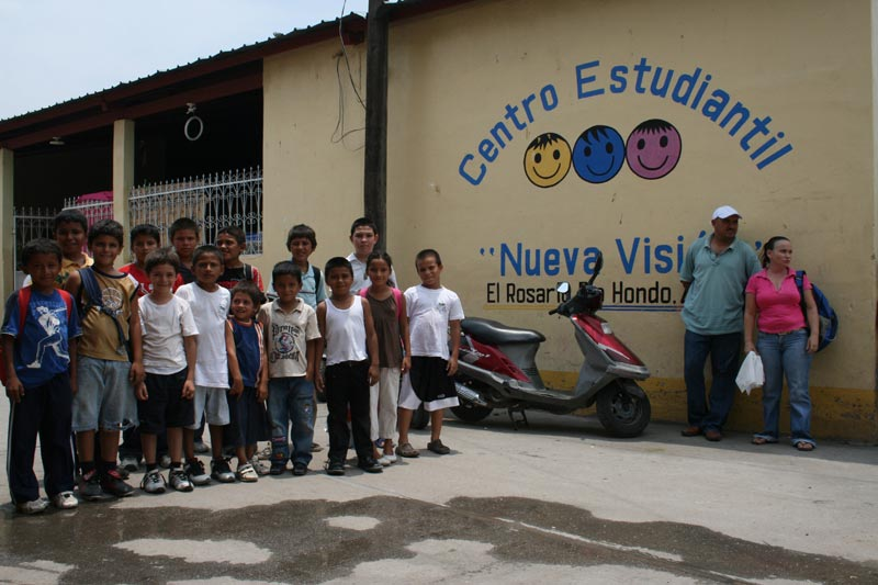 Guatemala Children Outside Center