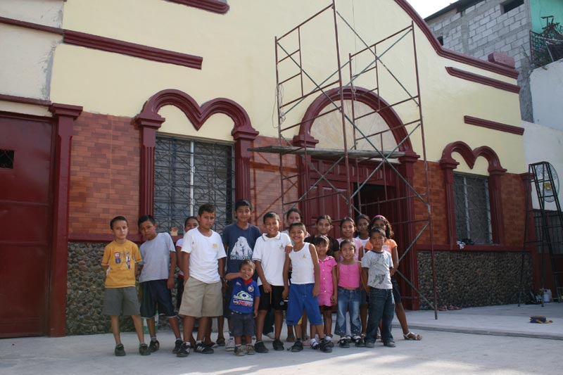 Guatemala Children Outside Church