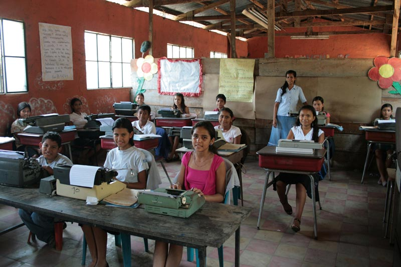 Guatemala Children with Typewriters
