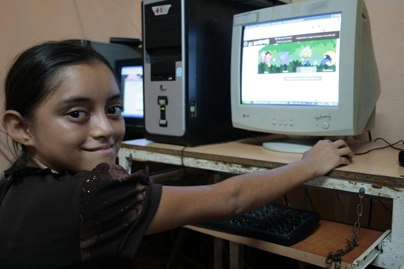 Guatemala Girl at Computer